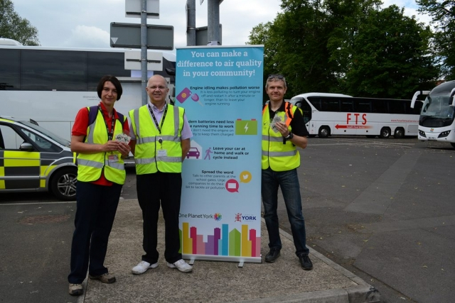 Raising awareness of National Clean Air Day at St George's Field Coach Park