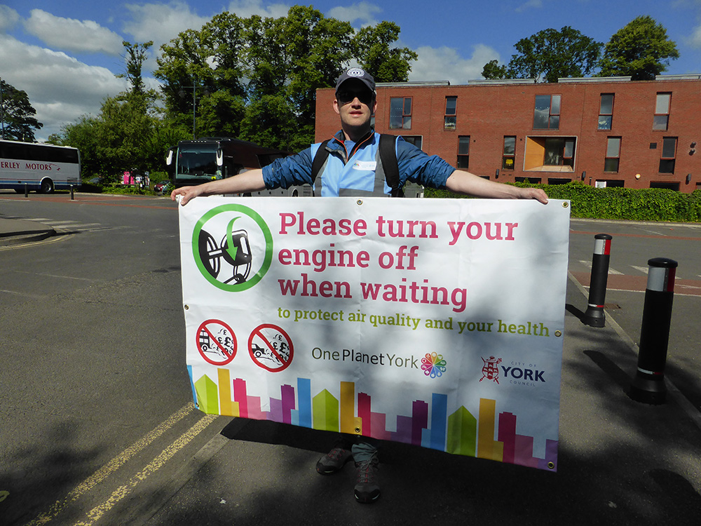 Raising awareness of National Clean Air Day at Union Terrace Car Park