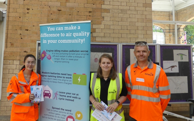 AMEY promoting National Clean Air Day at York Station