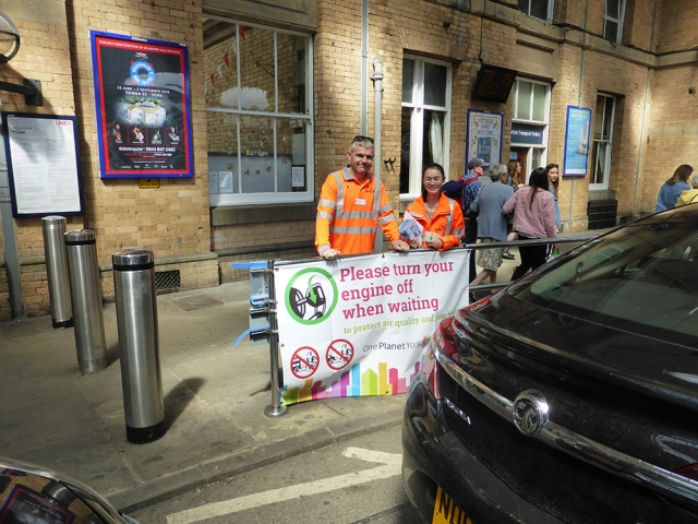AMEY raising awareness of National Clean Air Day at York Station