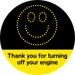 Thank you for turning off your engine